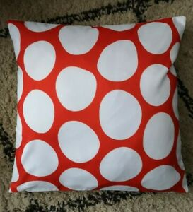 NEW MODERN STYLE ABSTRACT RED WHITE PRINT CUSHION COVER UK SELLER