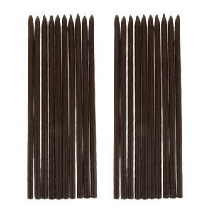 20pcs Wooden Hair Sticks For Long Hair Women Hair Chinese Chopsticks Brown