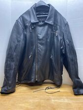 MEN'S LEATHER LIMITED 3XL Black Leather Jacket With Removable Thermal Liner