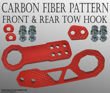 "JDM 2"" Anodized Billet CNC Aluminum Racing Front & Rear Tow Towing Hook RED L102"