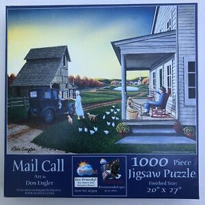 SunsOut Mail Call Farm Chickens Dogs 1000pc Puzzle Don Engler 2018 Ages 10+