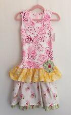 NWT Giggle Moon Lemon Love Esther Dress /& legging 2pc Set sz 5 Lilac Lace Floral