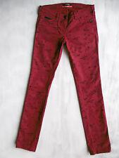 Maison Scotch skinny Röhre stretch Jeans Hose bedruckt Gr 34 W26/L32 neuw. #653