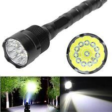 30000LM 12 XM-L T6 LED Flashlight Antorcha Luz Linterna Lámpara Militar Táctica