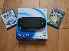 Sony PlayStation Vita PS Vita Consola 16GB Tarjeta De Memoria + Estuche Y 2 Juegos
