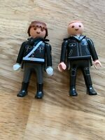 Playmobil POLICE OFFICER MALE x 2  BLACK UNIFORM (30-00-7440)