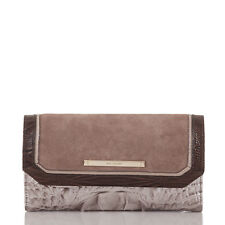 Brahmin Soft Checkbook Clutch Wallet (Chardonnay Clermont)