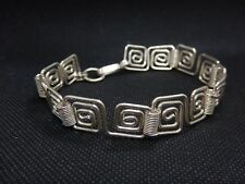 MEXICAN Sterling Silver Square Link Style Bracelet