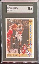 1991-92 Upper Deck Michael Jordan East All-Star #69 SGC 9 Mint