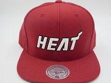 Miami Heat Red Throwback Mitchell & Ness NBA Snapback Hat Cap