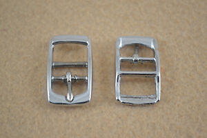 "Buckle - 1/2"" - Nickel Plated - Double Bar - Pack of 12 (F216)"