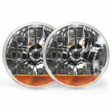 Tri-Bar 7 Inch Halogen Lens Assembly With Amber Turn Signal  Pair