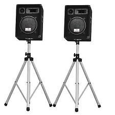 Auna PW 1022 DJ PA 10 Loud Speaker 800 Watt 3 Way With Foldable Tripod Stands