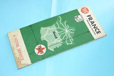 CARTE FRANCE GRANDES ROUTES SUD 1965 MICHELIN PUBLICITÉ CALTEX / BON ETAT