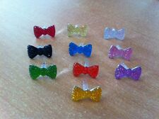 10 NOEUD STRASS BOUCHON PRISE JACK IPHONE 4S 5 GALAXY S2 S3 ANTI POUSSIERE