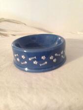 New listing Princess Cruises Cat Dish Blue And White Ceramic Fish Bones Paw Prints