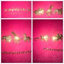Safari Animal Stylish Women's Belt Fashion Waist/Hip Gold Chained Metal One Size