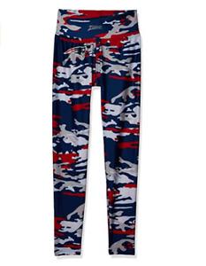 Zubaz NFL Women's New England Patriots Camo Print Legging Bottoms