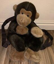 "Russ Berrie & Co. ~ Plush Monkey Backpack ~ 17"""