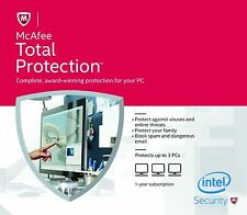 McAfee Total Protection 3PCs, 2018 1Year - LATEST eCARD DOWNLOAD VERSION -