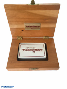 Pacesetter Very Rare  Vintage Auto GM GENERAL MOTORS DECK CARDS WOOD BOX