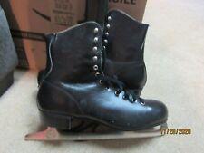 New listing Slm Canada size 10 Mens Figure Skates Vgc Black Boot cowhide