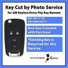 Key Cut By Photo  Service W New Gm Chevy Flip Fob Avl B01t1ac Or Kr55wk50073