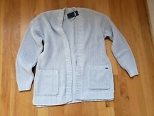 NWT Hollister Chenille Cardigan Sweater Light Grey Large