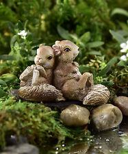 Miniature Dollhouse Fairy Garden - Lean On Me - Sitting Squirrels - Accessories