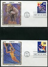 UNITED STATES COLORANO 1993 CIRCUS  SET OF FIVE   FIRST DAY COVERS