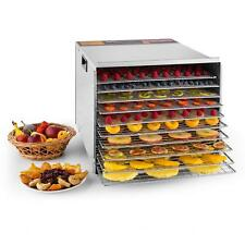 Deluxe 1200W 10-Tray Commercial Food Dehydrator Durable Fruit Sausage Dryer UL