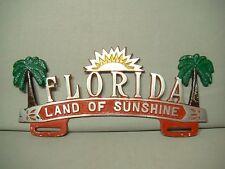 vintage style Florida Land of Sunshine license plate topper plaque emblem