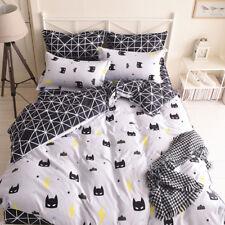 Batman Black Quilt Duvet Doona Cover Set Single/Queen/King Size Pillow case Bed