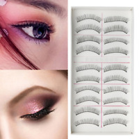 10 Pairs False Eyelashes Long  Natural Fake Eye Lashes Set Mink Makeup