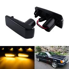 Dynamische LED Seitenblinker schwarz für MERCEDES W201 W124 W126 W140 W202 R129