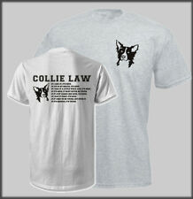 FUNNY BORDER COLLIE LAW T SHIRT WORKING DOG FARMING TRIALS SHEEP DOGS