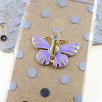 Metal Cell Mobile Phone butterfly Holder Round 360° Ring Stand Finger Bracket