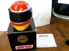 Buzz Calkins Simpson Mini Helmet Indy Racing Signature Edition Red Blue Yellow