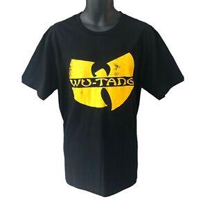 Wu Tang Men's T Shirt Black Yellow Logo Large Wu Tang Clan