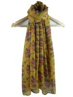 Lady's scarf with Bird Pheasants design Good quality Available in 4 colours