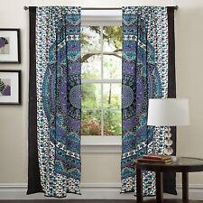 Mandala Door Window Curtain Drape Panel Scarf Valances Indien Hippie Curtains