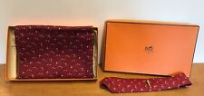 Vintage Hermes Scarves & Matching Tie With Clip - Light Wool NIB Original Box