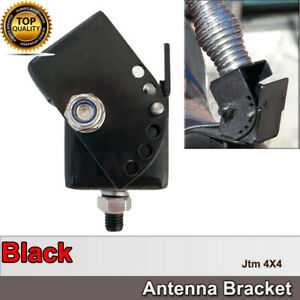 UHF Radio Folding Adjustable Antenna Mount Black Bracket Bull Bar Fold Down