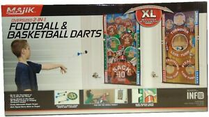 Majik Oversized 2 in 1 Football and Basketball Darts XL Double Sided Target Mat
