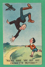 HUMOUR - EXTREMELY RARE SMOKING / CARTOPHILY / ADVERTISING POSTCARD - C1930's