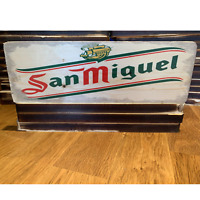 San Miguel LED ILLUMINATED SIGN Wall Mounted LIGHT BOX for Garage Man Cave