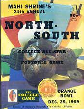 1969 12/25 North vs South All Star Football Game Program Miami Florida Terry Bra