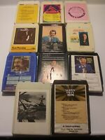 8 track tapes Lot Of 11 Vintage Miscellaneous Artists