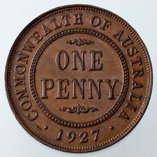1927-M Australia Penny Brown Color, AU Condition KM #23
