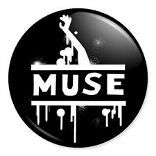 "Muse Logo Artwork 25mm 1"" Pin Badge Button Alternative Rock Band Bellamy"